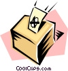 Vector Clipart picture  of a Ballot boxes
