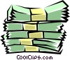 Vector Clipart graphic  of a Bundles of cash
