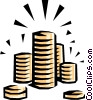 Coins Vector Clipart illustration