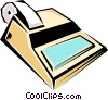 Vector Clipart graphic  of a Cool calculator