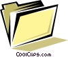 Vector Clipart illustration  of a File folders