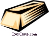 Vector Clip Art image  of a Gold bar