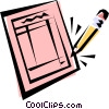 Vector Clip Art picture  of a Check list