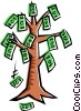 Vector Clip Art graphic  of a Money tree
