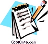 Pencil and notepad Vector Clip Art picture