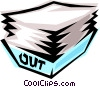 Vector Clip Art graphic  of a Out basket