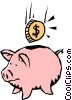 Cool piggy bank Vector Clipart picture