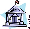 Vector Clip Art graphic  of a Courthouse
