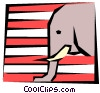 Vector Clip Art image  of a Political symbol Republican