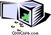 Vector Clip Art graphic  of a bank