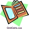 Vector Clip Art picture  of a Billfold