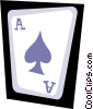 Vector Clip Art graphic  of an Ace of spades