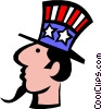 Vector Clipart graphic  of a Uncle Sam