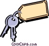 Vector Clip Art image  of a Keys