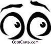 Vector Clip Art graphic  of a Eyes