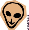 Vector Clip Art image  of an Alien