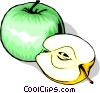 Vector Clip Art graphic  of a Sliced Apple