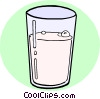 Vector Clipart picture  of a Glass of milk