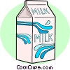 Carton of milk Vector Clipart image
