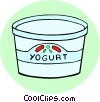 Vector Clipart illustration  of a Yogurt with fruit