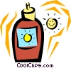 Vector Clipart image  of a Suntan lotion