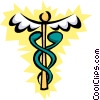 Cool caduceus Vector Clipart illustration