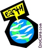 Vector Clip Art picture  of a Planet earth