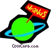Vector Clip Art graphic  of a Planet Uranus