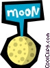 Moon Vector Clipart illustration
