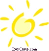 Vector Clipart illustration  of a Sun