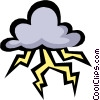 Storm clouds Vector Clipart illustration
