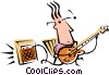 Cool guitar player Vector Clipart picture