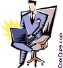 Cartoon executive Vector Clip Art graphic