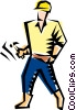 Cool construction worker Vector Clipart graphic
