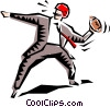 Cartoon sports quarterback Vector Clip Art graphic