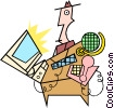 cool stuff Vector Clipart illustration