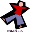 human figure Vector Clipart illustration