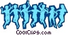 Kid silhouettes Vector Clip Art picture