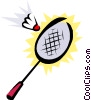 Vector Clip Art graphic  of a Badminton