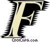 Vector Clip Art graphic  of a Font