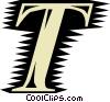 Vector Clip Art image  of a Font