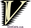 Vector Clipart graphic  of a Font
