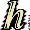 Vector Clipart image  of a Font