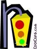Vector Clipart picture  of a Traffic lights