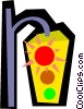 Vector Clipart illustration  of a Traffic lights