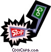 Stop and go sign Vector Clip Art image