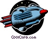 Cartoon spaceship Vector Clipart picture