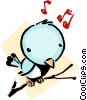 Vector Clipart picture  of a Cartoon bird