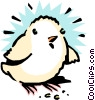 Vector Clip Art graphic  of a Cartoon chick