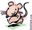 Cartoon mouse Vector Clipart illustration